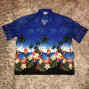 Men's 3XL Pacific Legend Hawaiian Parrot Shirt
